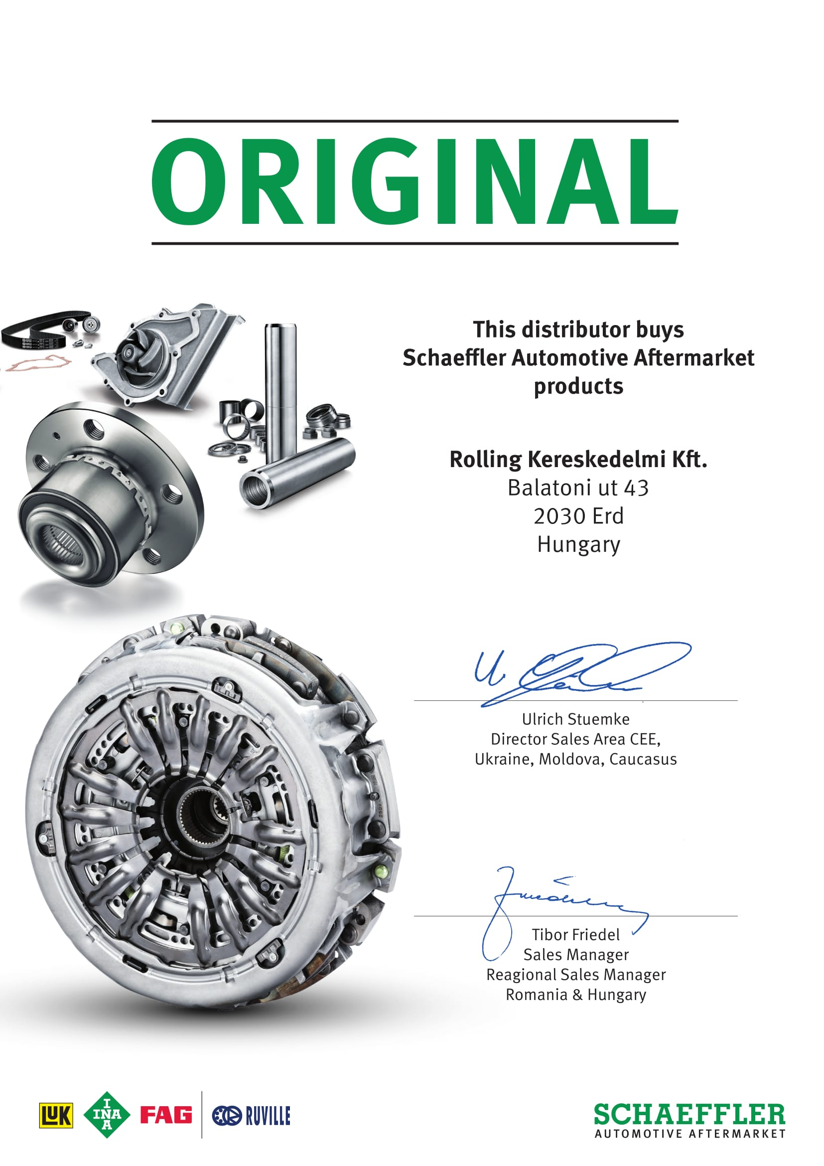 Schaeffler Automotive Aftermarket Distributor Certification